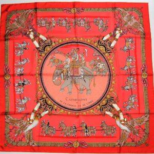 Caparacons de la France et de L'Inde Hermes Scarf