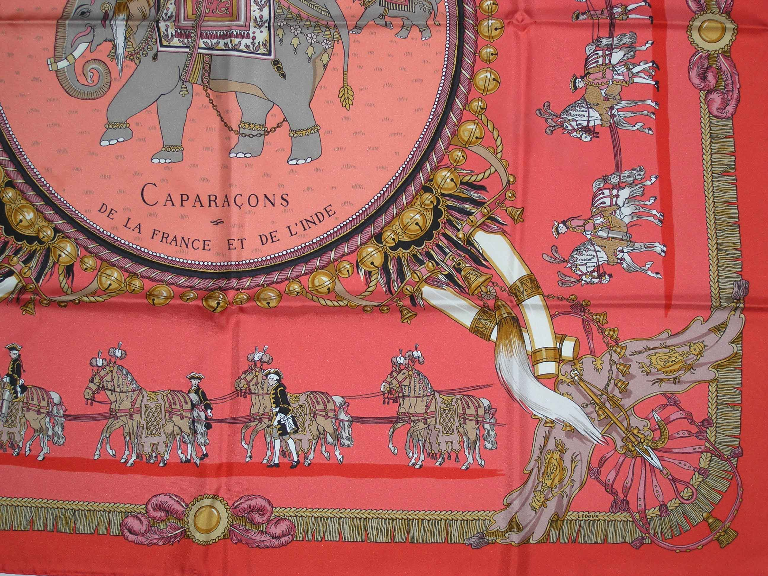Caparacons de la France et de L Inde Hermes Scarf - It s All Goode 68c1841d413