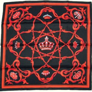 Crowns Couronnes 70cm Hermes Scarf