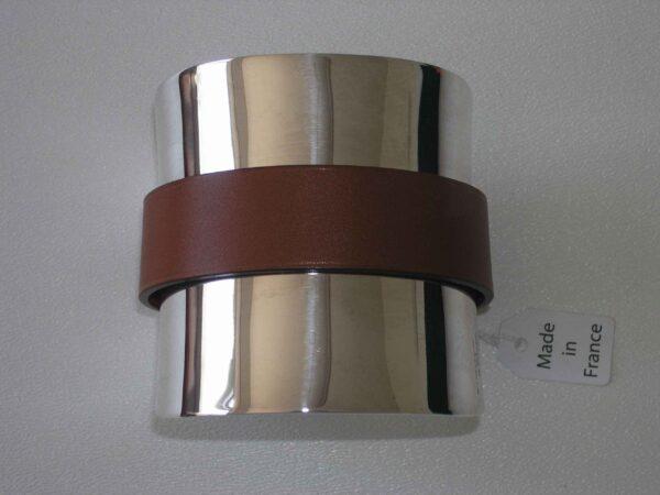 Cuff Bracelet - Hermes Silver Barenia