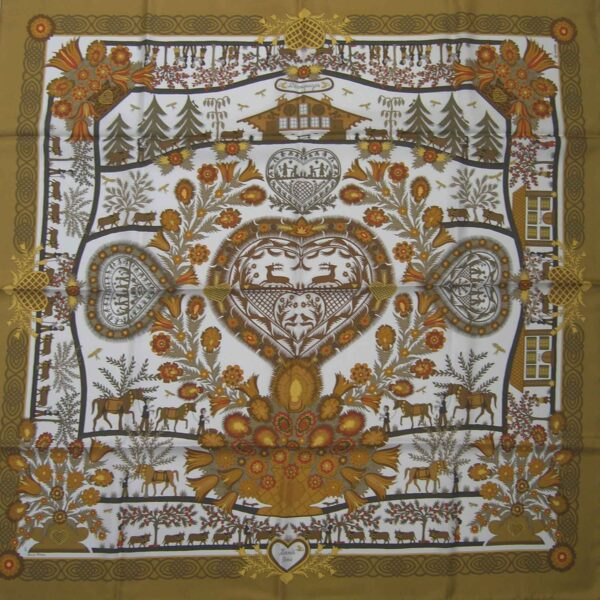 Decoupages Hermes Scarf