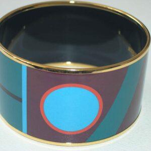 H Bangle - Hermes Enamel Mega Bracelet