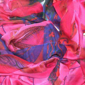 Festival des Amazons 140cm Hermes Changeant Mousseline Shawl