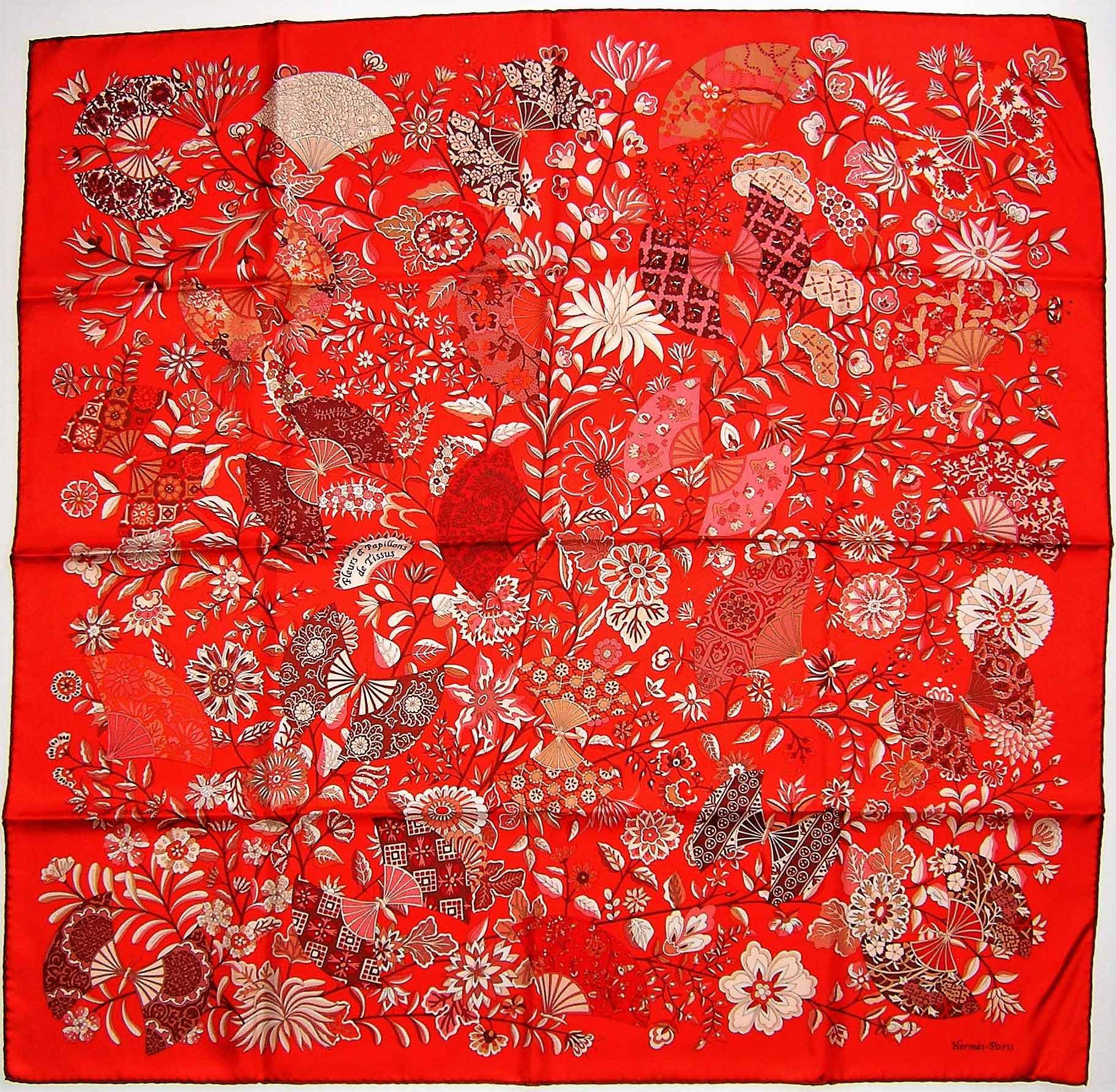 fleurs et papillons de tissus hermes scarf it 39 s all goode. Black Bedroom Furniture Sets. Home Design Ideas