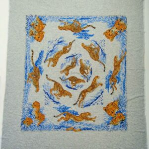 Guepards T-Shirt Hermes Cotton Scarf