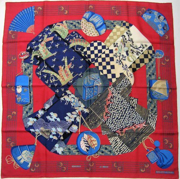 Kimonos et Inros Hermes Scarf