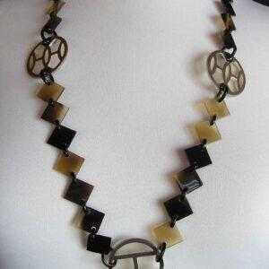 Lena Horn Hermes Necklace PHW