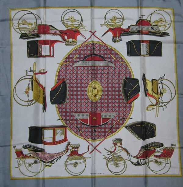 Les Voitures a Transformation Hermes Scarf