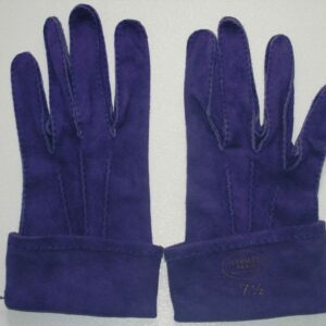 Gloves - Suede Electric Purple Hermes