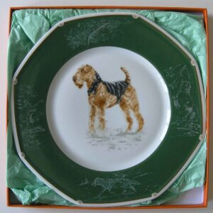 Hermes Plate---Airedale-Terrier