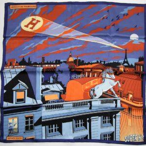Super H - Minuit au Faubourg 70cm Hermes Scarf