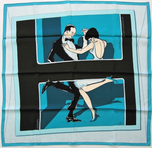 Swinging Saint Germain 70cm Hermes Scarf
