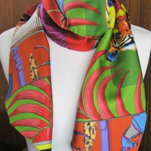 Carre en Carres Hermes Maxi Twilly Scarf