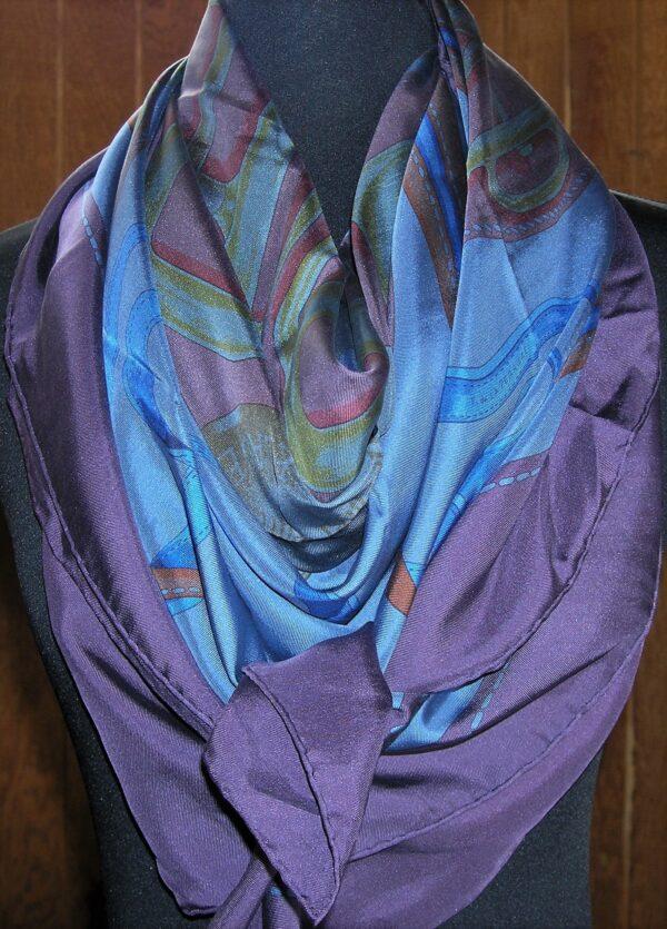 Bouclerie d'Attelage Dip Dye 140cm Hermes Shawl