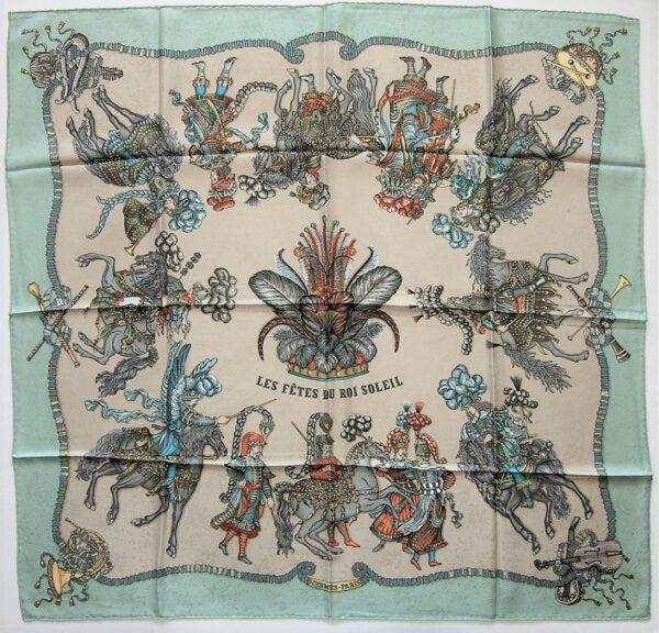 Les Fetes du Roi Soleil Jacquard Hermes Scarf