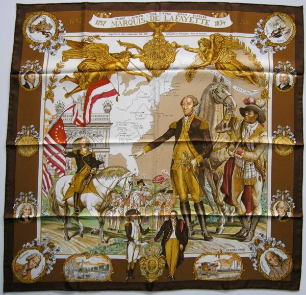 Marquis de Lafayette Hermes Scarf