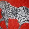 A Cheval Sur Mon Carre Cashmere Hermes Shawl