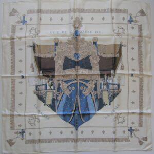 Vue du Carrosse de La Galere La Reale Hermes Scarf