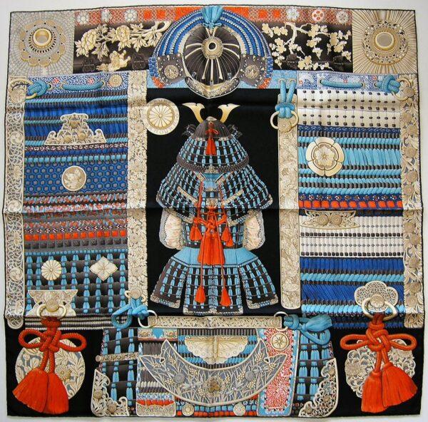 Parures de Samourais Grail Hermes Scarf 2017 Aline Honore