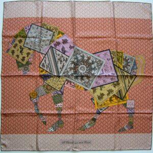 A Cheval sur mon Carre Hermes Scarf 2006 Bali Barret