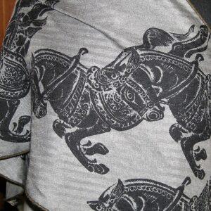 Chevaux des Steppes Large Hermes Cashmere Losange