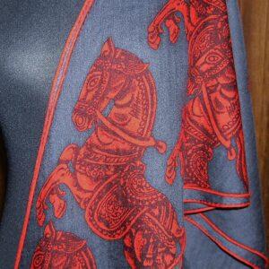 Chevaux des Steppes Hermes Large Cashmere Losange