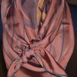 Quadrige 140cm Hermes Dip Dye Shawl