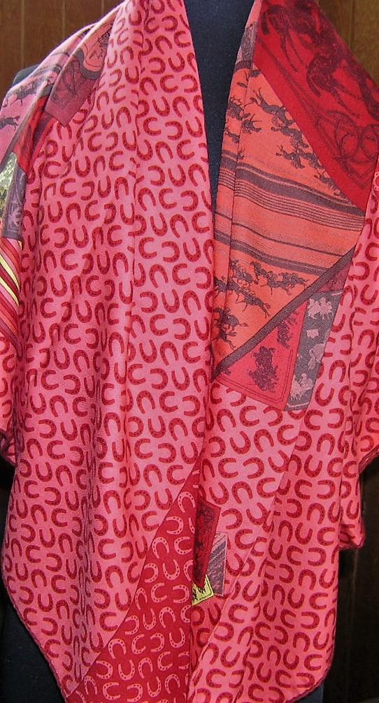 A Cheval Sur Mon Carre Hermes Cashmere GM Shawl