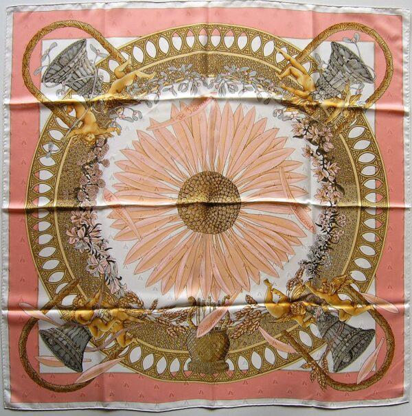 Amours Jacquard Hermes Scarf 1998 Annie Faivre
