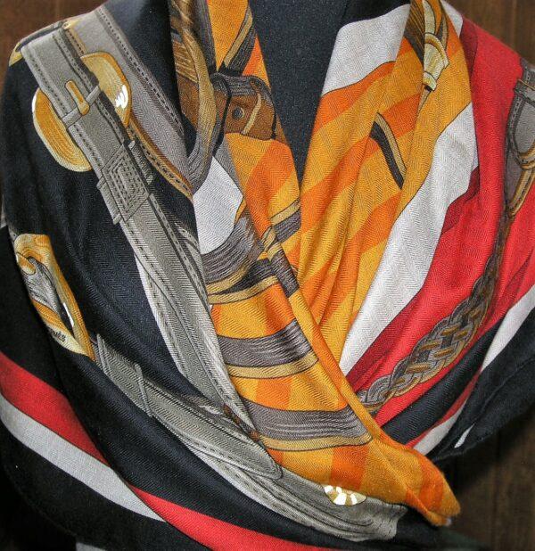 Coaching Hermes Cashmere 140cm Shawl
