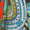 Cuirs du Desert II Detail Cashmere Shawl F de la Perriere