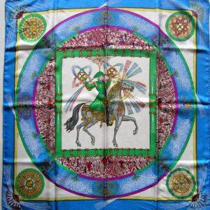 Feux d'Artifice Jacquard Hermes Scarf 1987 M Duchene