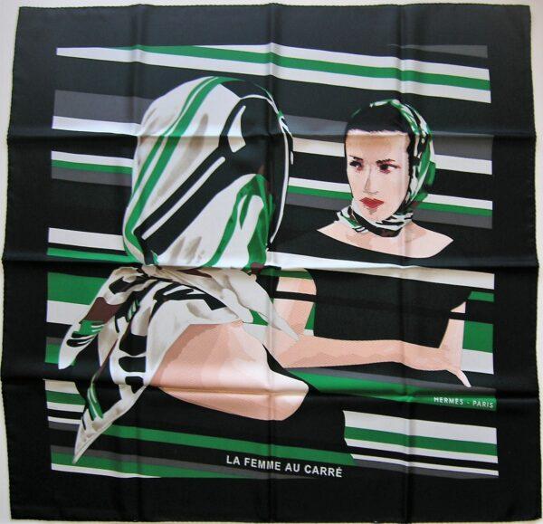 La Femme au Carre Hermes Scarf 2005 Bali Barret