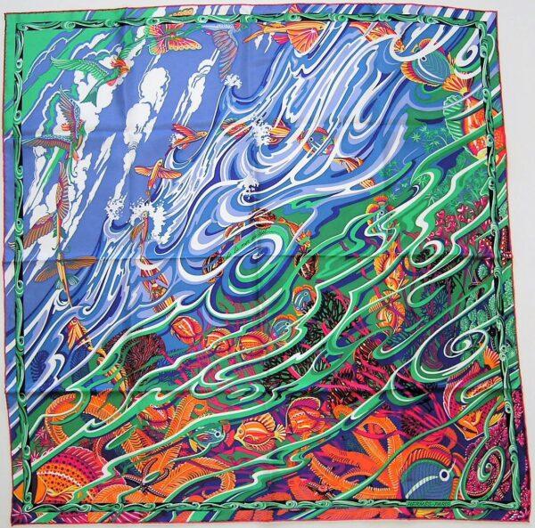 La Mer au Ciel Hermes Scarf 2014 Laurence Bourthoumieux Toutsy