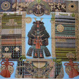 Parures de Samourais Hermes Scarf cw04 2017 Aline Honore