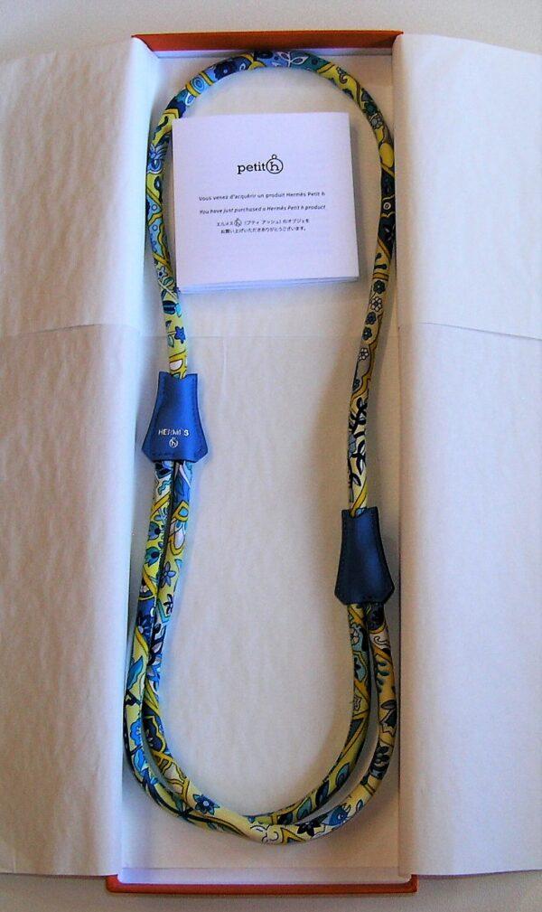 Petit H Adjustable Hermes Silk Necklace