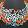 PETIT H CURLY CHOKER HERMES SILK NECKLACE