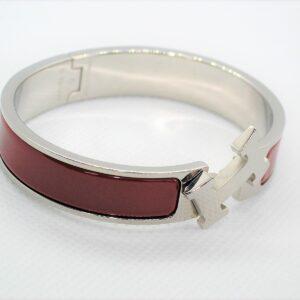 Clic Clac H Red Enamel PHW Bracelet