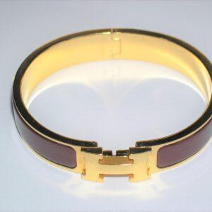 Clic Clac H Red Enamel GHW Bracelet