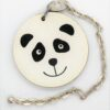 Panda Hermes Leather Charm
