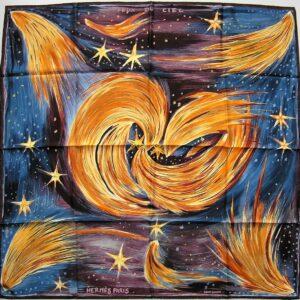 Feux du Ciel Hermes Scarf 2000 Kwumi Sefedin vintage hermes scarf