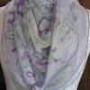 vintage Hermes scarf Les Confessions 140 cm Hermes Mousseline Chiffon Shawl 2018 Flavia Zorilla Drago
