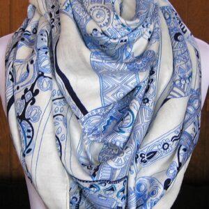 vintage Hermes scarf cashmere shawl