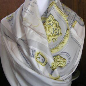 vintage Hermes scarf shawl dip dye surtient