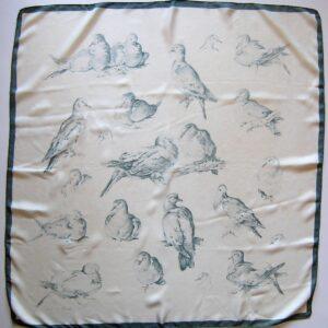 Les Tourterelles Hermes Scarf 1956 Xavier de Poret vintage Hermes scarf