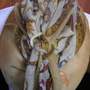 Pierres d'Orient et d'Occident Mousseline Hermes Shawl 1988 Zoe Pauwels vintage Hermes scarf