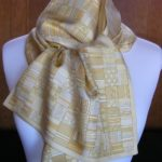 Yellow Gold Hermes Silk Stole Scarf vintage Hermes scarf
