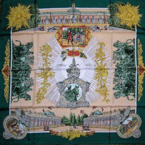 used worn vintage Hermes scarf
