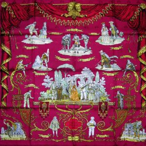 old worn used vintage Hermes scarf