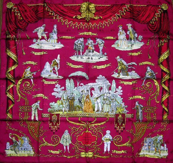 old worn used vintage Hermes scarf